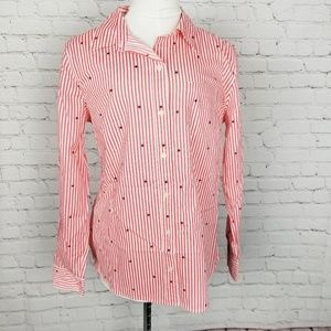GAP NWT Striped With Stars Button Down Shirt NWT